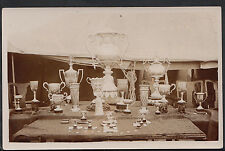 Military Postcard - Real Photo of Regimental Silverware & Trophies   A9056
