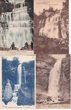 lot de 4 cartes postales anciennes LE HERISSON cascade 4