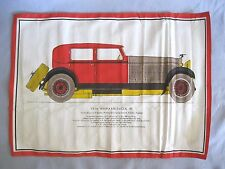 VINTAGE 1928 HISPANO-SUIZA 45 CAR PRINT ON COTTON FABRIC~PORTAL GALLERY SPAIN