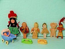 Vintage Antique Small Kewpie Cupie Doll Porcelain Bisque Celluloid Toy Dollhouse