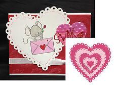EYELET HEARTS die set LIFESTYLE CRAFTS Dies Valentine,wedding,anniversary,love