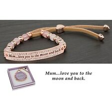 Mum Love You To The Moon and Back Leather & Rose goldplated 64836
