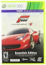FORZA MOTORSPORT 4 ESSENTIALS EDITION XBOX 360! ALSO WORKS WITH KINECT! RACE CAR