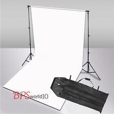 Photo Studio 2.8x1.8m White Muslin Cotton Backdrop Background 2.8x3m Stand Kit