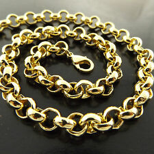 A290 GENUINE REAL 18CT YELLOW G/F GOLD SOLID CLASSIC BELCHER NECKLACE CHAIN