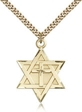 """Gold Filled Cross Necklace For Men On 24"""" Chain - 30 Day Money Back Guarantee"""