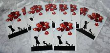 WHOLESALE JOB LOT 10 x  ELEGANT SILHOUETTE GIRL GREETING CARDS