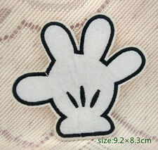 white palm Disney Mickey mouse glove motif applique iron on patch clothes access