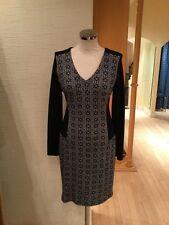 Oui Dress Size 14 BNWT Black Grey RRP £179 Now £62