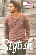 NEW ARRIVALS henley tee Full Sleeve T-shirt For Men size xl ,xxl color:Ice pink