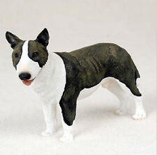 BULL TERRIER DOG Figurine Statue Hand Painted Resin Gift Pet Lovers Brindle
