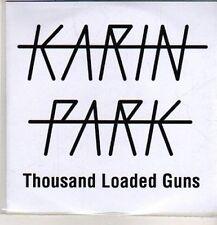 (DB923) Karin Park, Thousand Loaded Guns - 2012 DJ CD