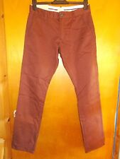 """Selected Homme 'Three Paris' 100%Cotton Chinos Jeans W31"""" L32"""" Raisin BNWT"""