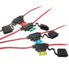 NEW Waterproof Car Auto 30A Amp In Line Blade Fuse Holder Fuses 30 A