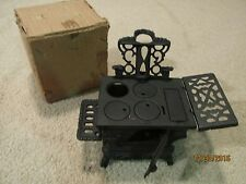 Vintage Cast Iron Collectible Crescent Stove in Box
