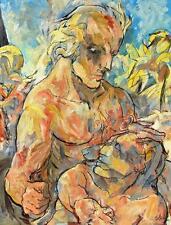 """Karl Schricker 1912-2006 Bayreuth / große Mischtechnik """"Der Größte"""" / Gewalt"""
