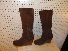 Womens ALDO wedge boots - size 39 - brown