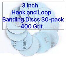 3 inch Hook and Loop Sanding Discs 30/pk 400 Grit