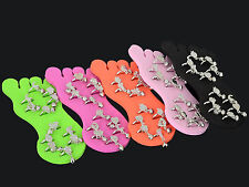 12pcs/Lot Wholesale Jewelry Mixed Colors Foot Toe Rings with Display Bulk