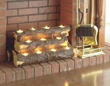 Tea Light Fireplace Log Holder Faux Romantic 11 Candles Fake Accessories Insert