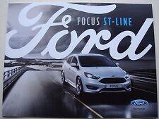 Ford focus. st ligne. juillet 2016 sales brochure