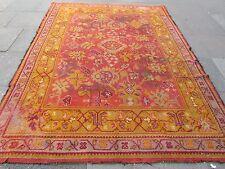 Antique Hand Made European Donegal? Oushak Wool Orange Large Carpet 296x220cm