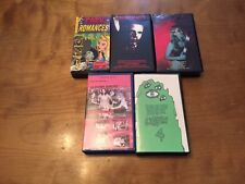 Obscure Horror Lot 3 (5 Movies) VHS's*Rare*OOP*Hard to Find*Dark Romances*