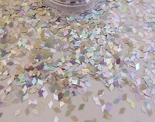 NAIL ART SILVER DIAMOND COLORE CANGIANTE OLOGRAFICA POT Spangle Glitter Punta