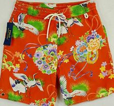 Polo Ralph Lauren Swim Trunks Briefs Shorts Orange Crane Size S Small NWT