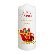 Personalised Christmas Candle Stocking Gift Sleigh Family Large