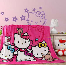 "New Design For Hello Kitty Supersoft Plush Bedroom Blanket Throw Cover 59""x78"""