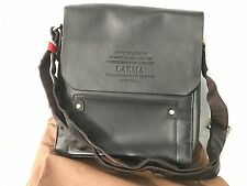 Leather Accented/Faux Leather Travel Bag, Tablet Bag, Mini Laptop Pack, Book Bag