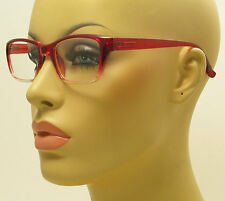 Rectangular Style Glasses Gradient Red Frame Fashion Clear Lens Eyeglasses