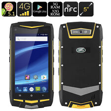 Rugged Android Smartphone 5 Inch- Land Rover, 3GB RAM, 4G, Dual IMEI, NFC