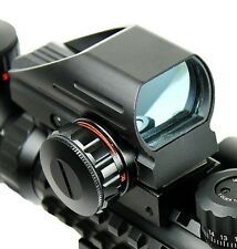 Tactical Holographic Reflex Red and Green Dot Sight 4 Reticle w/ 20mm Rail Mount