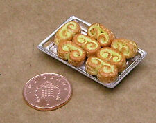 1:12 Scale 7 French Pastries In A Metal Tray Dolls House Miniature LM Tray