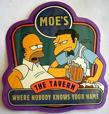 Simpsons Homer & Moe sticker  Licensed Where nobody knows....