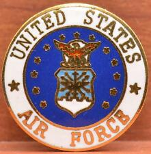 """USAF Lapel Pin United States Air Force Military Crest Insignia 3/4"""" Clutch"""