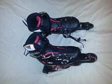 ROLLER DERBY WEB STINGER QUAD SPEED ROLLER SKATES YOUTH 12-1 Soft Fit EUC
