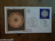 FRANCE 1976, FDC EUROPA, ART, FAIENCE SEVRES, VF EUROPE THEME, TP 1878