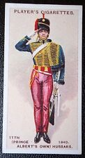 11th (Price Albert's Own) Hussars   Trooper circa 1840   Vintage Uniform Card