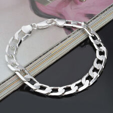 New Fashion Jewelry Silver Color  8mm Chain Men Bracelet/Bangle