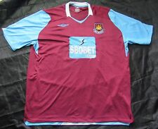 WEST HAM UNITED home shirt jersey UMBRO 2008-2009 Hammers /adult/SIZE XXXL/3XL