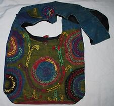 New Fair Trade Cotton Shoulder Bag - Hippie Hippy Ethnic Nepal Ethical Nepal