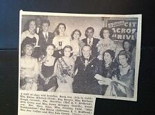 m1-5 ephemera 1949 Advertt miss Walthamstow elaine mitchell janet kempley