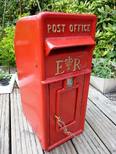 Royal Mail Post office Box ERII box Red Cast iron post office box black friday