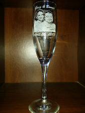 Personalized photo engraved Anniversary or any occasion. Glass. Keepasake.