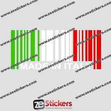 Sticker Made In Italy - FIAT ALFA ROMEO FERRARI 500 panda 156 147 33