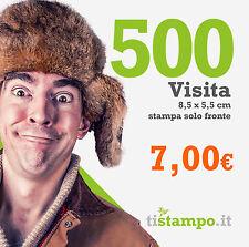 500 BIGLIETTI DA VISITA 300 GR. STAMPA FRONTE A 7 EURO