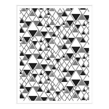 Basic Grey Hero Arts Prism Triangle Background Cling Stamp